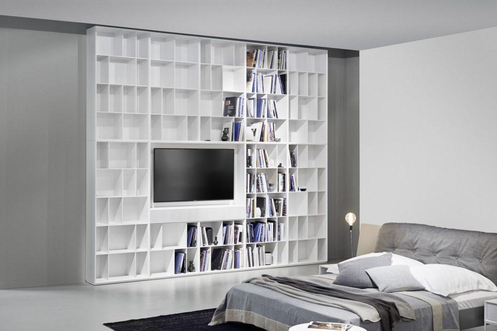 Kettnaker Schlafzimmer mit Bett und Regal-Schrank