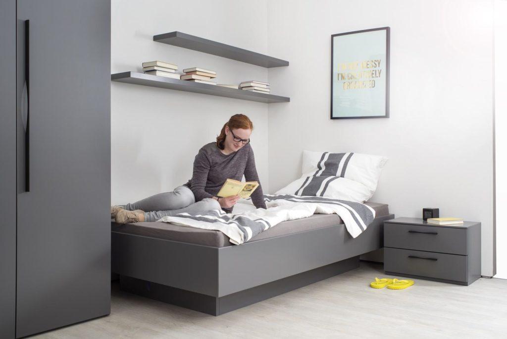 Sudbrock-Schlafen- Einrichtung Farbe hellgrau