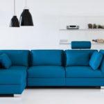 Brühl LederCouch blau