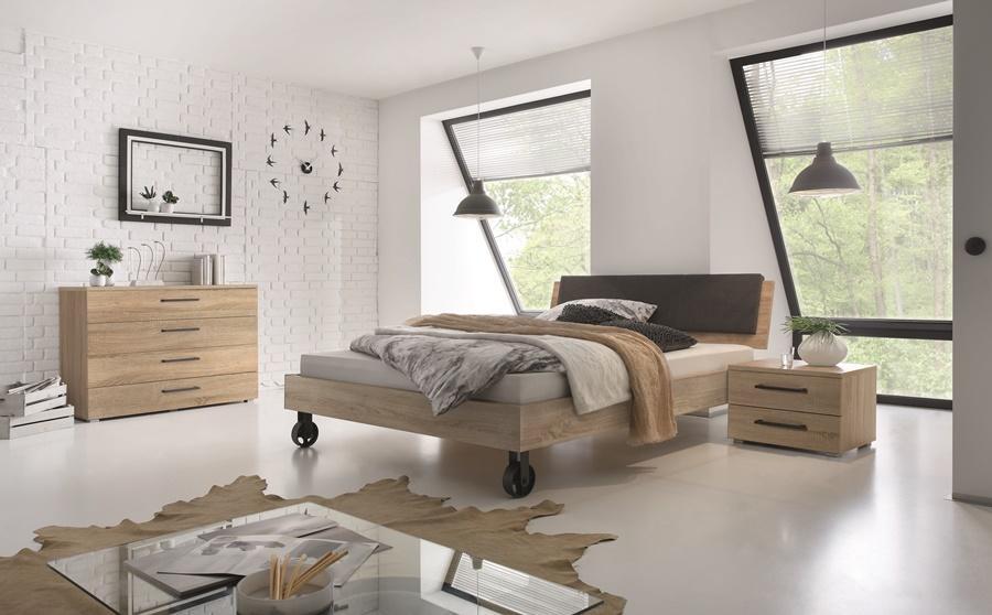 Hasena-Bett auf Rollen - Holz - hellbraun