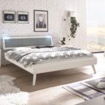 Hasena modernes Doppelbett in weiß