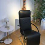 Möbel Weimer Hausausstellung -Designersessel - Leder - Schwarz