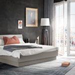Interlübke Schlafzimmer - Bett hellgrau