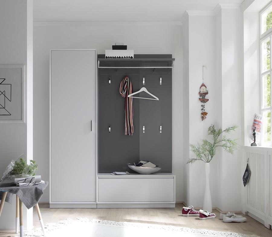 Sudbrock -Garderobe Schrank und Wandregal