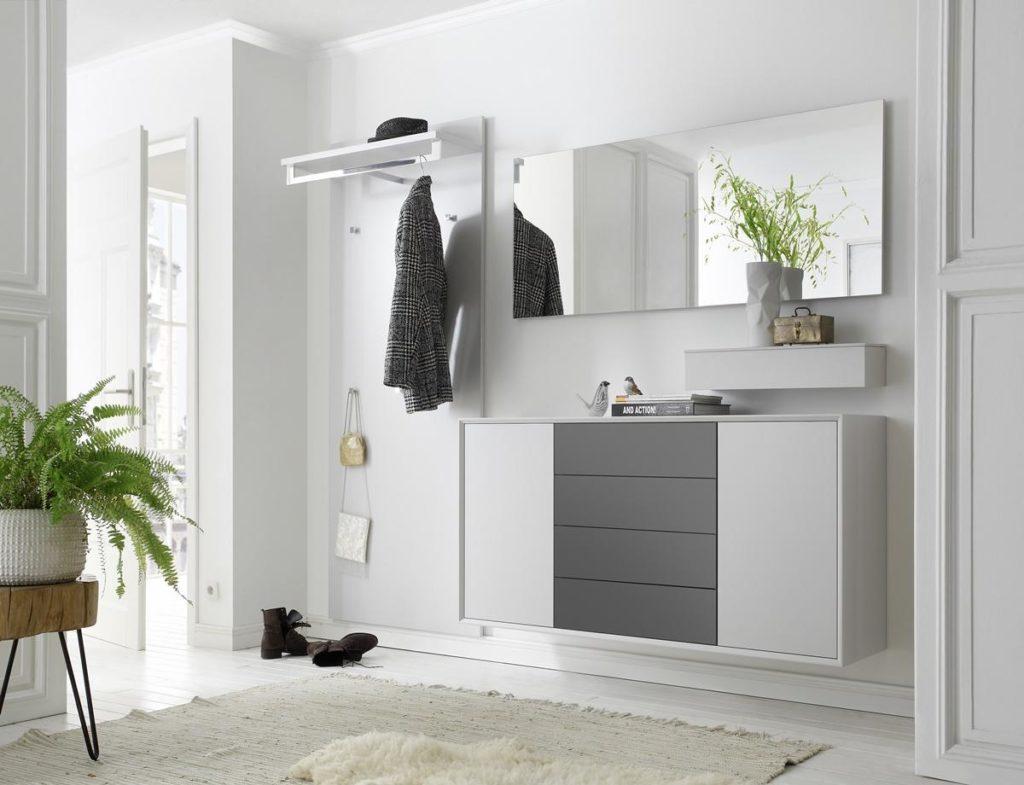 Sudbrock- Garderobe weiß-grau