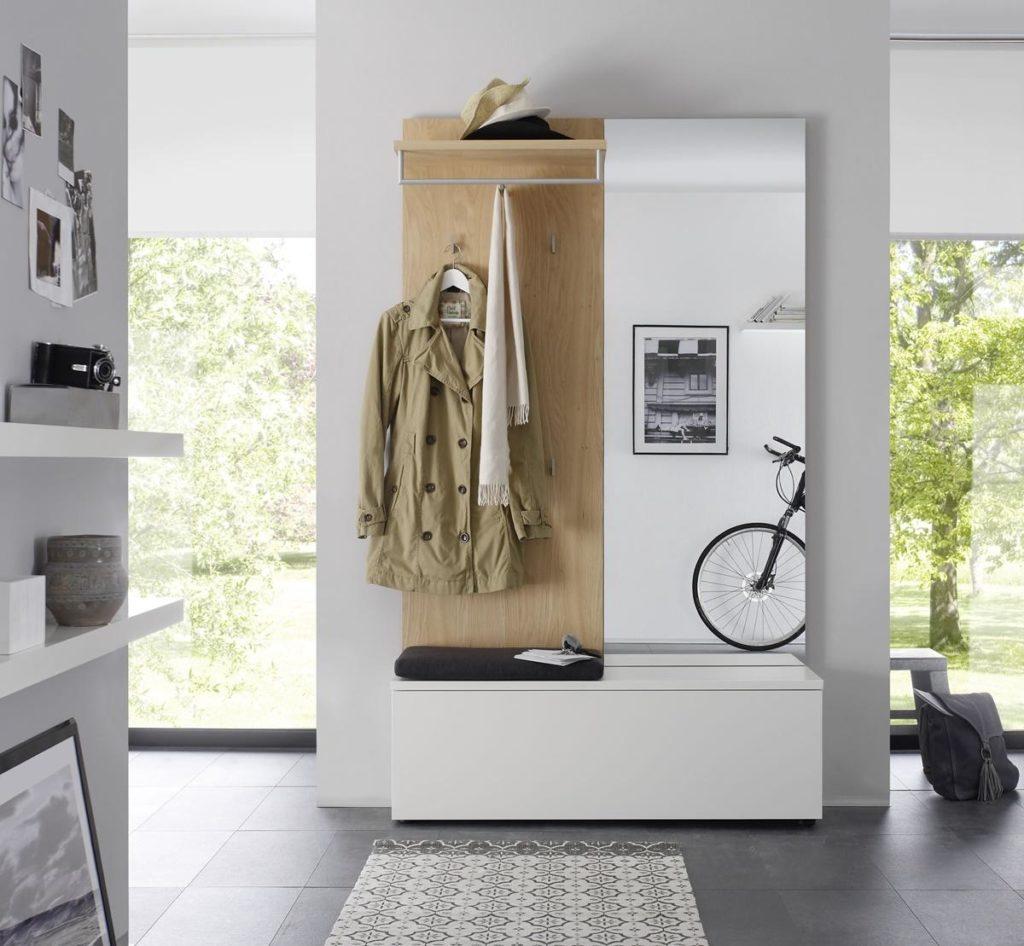 Sudbrock- Garderobe weiss-holz