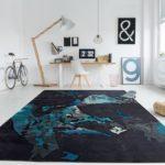Teppich schwarz-türkis