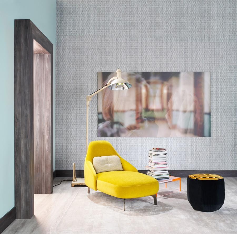 Wohnen -Leolux - Gelber Schlafsessel mit extra Sitzteil
