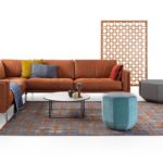 Leolux Couch terracotta